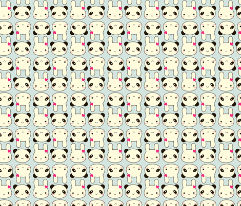 Super Cute Kawaii fabric by marcelinesmith on Spoonflower - custom fabric