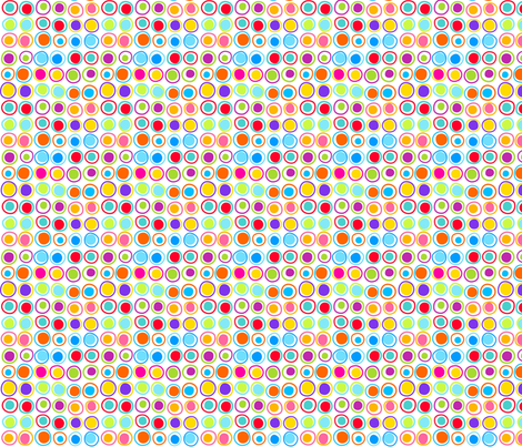 Wonky Dots fabric by carinaenvoldsenharris on Spoonflower - custom fabric