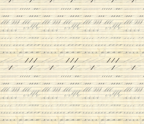 Spencerian fabric by kennerroad on Spoonflower - custom fabric