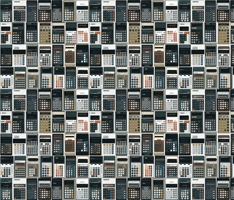 70s calculators fabric by cakeyvoice on Spoonflower - custom fabric