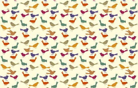 Birdies Galore fabric by cabinpressstudio on Spoonflower - custom fabric