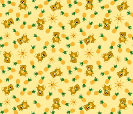 Tropical Bear - Sunshine fabric by inscribed_here on Spoonflower - custom fabric