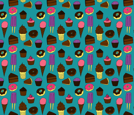 Sweet Tooth fabric by aydeeyai on Spoonflower - custom fabric