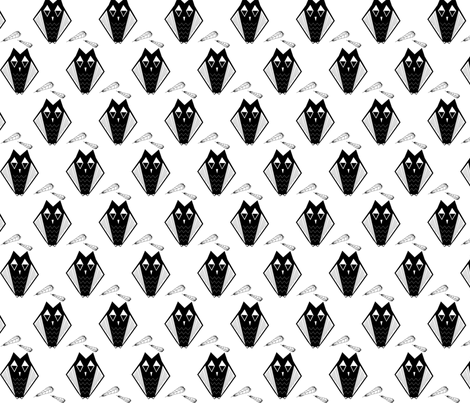 owl-molt-ai-save fabric by madam0wl on Spoonflower - custom fabric