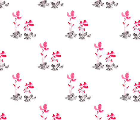 Cyclamens0 fabric by micheleoue on Spoonflower - custom fabric
