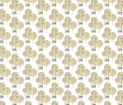 wood fabric by troismiettes on Spoonflower - custom fabric