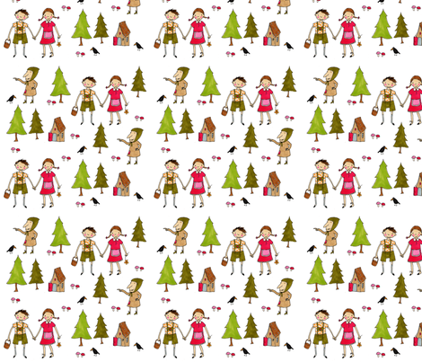 Hänsel_und_Gretel_Farbe fabric by susalabim on Spoonflower - custom fabric