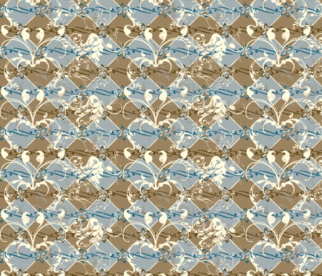 ArtHerstoryTiles fabric by tammikins on Spoonflower - custom fabric