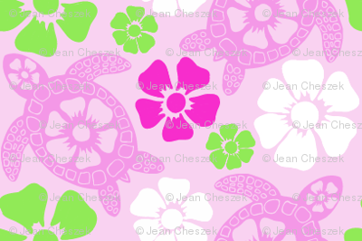 Hawaiian Turtles in Pinks (#31b)