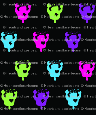 Hearts and Laserbeams logo robots