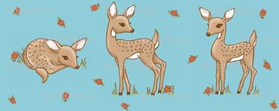 darling deer blue