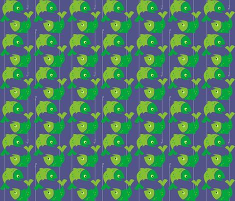 Fish 'n Hooks fabric by beckarahn on Spoonflower - custom fabric