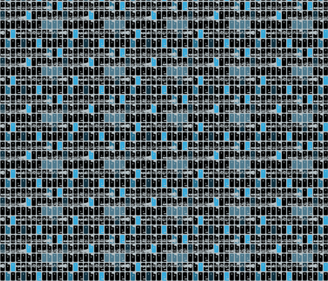 Oboe Blues fabric by beckarahn on Spoonflower - custom fabric