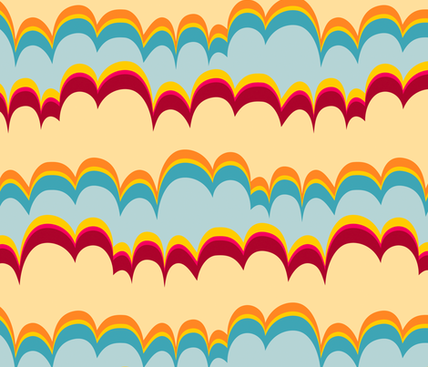 Pepperland : Geo Stripe fabric by bronhoffer on Spoonflower - custom fabric
