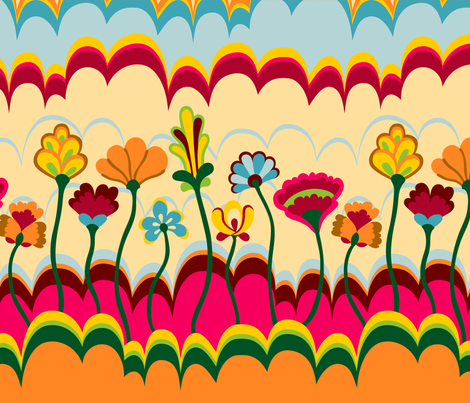 Pepperland : Border fabric by bronhoffer on Spoonflower - custom fabric