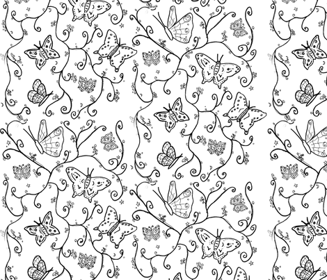 butterfly_fabric fabric by sequingirlie on Spoonflower - custom fabric
