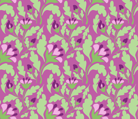 violet floral pale fabric by mytinystar on Spoonflower - custom fabric