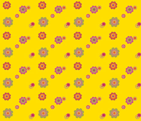 yellow happiness fabric by snork on Spoonflower - custom fabric