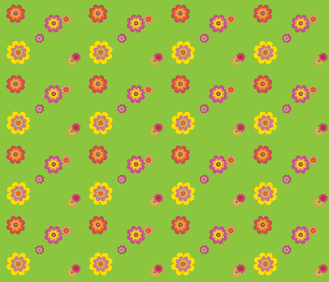 green happiness fabric by snork on Spoonflower - custom fabric