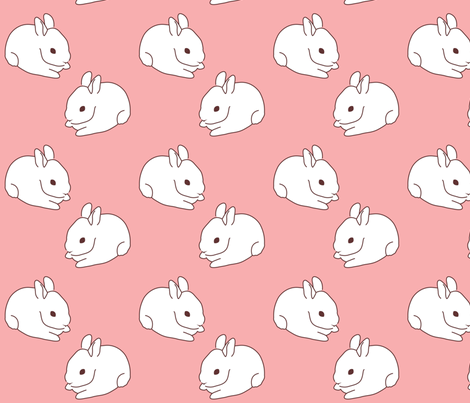 Sweet Bunny fabric by malien00 on Spoonflower - custom fabric