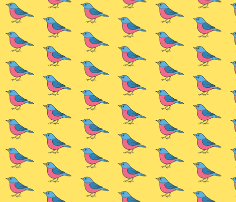 sweet birds fabric by mytinystar on Spoonflower - custom fabric