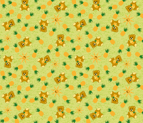 Tropical Bear - Bamboo Green fabric by inscribed_here on Spoonflower - custom fabric