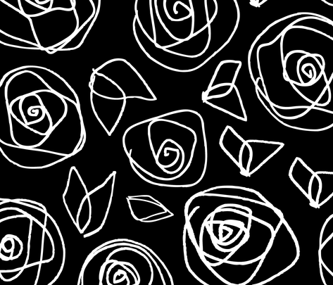 black_roses fabric by musterartig on Spoonflower - custom fabric