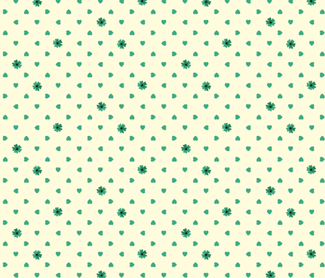 Hearts n Flowers - Jade fabric by inscribed_here on Spoonflower - custom fabric