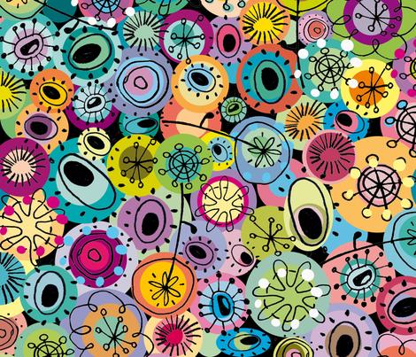 "award winner ""tipsy doodles"" fabric by musterartig on Spoonflower - custom fabric"