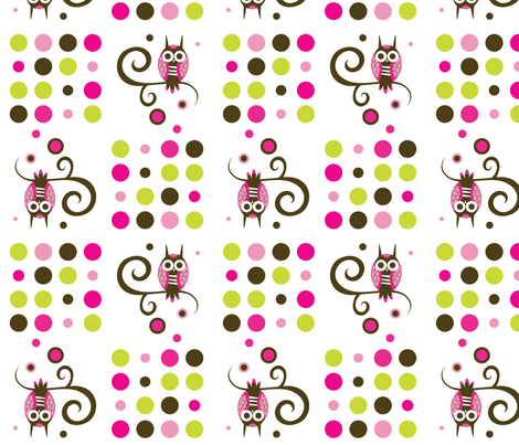 Owl Swirl fabric by malien00 on Spoonflower - custom fabric