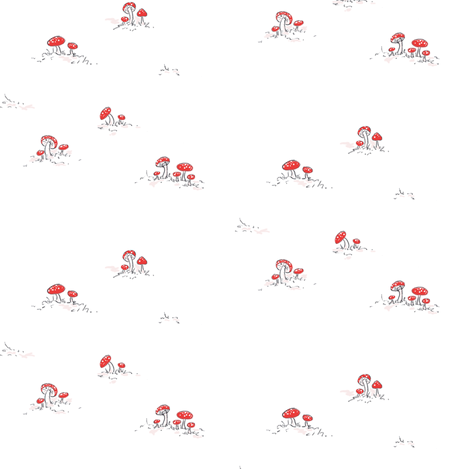 storybook mushrooms fabric by pocketful_of_pinwheels on Spoonflower - custom fabric