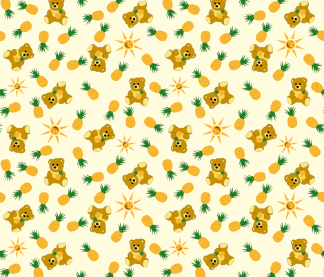 Tropical Bear - Milk fabric by inscribed_here on Spoonflower - custom fabric