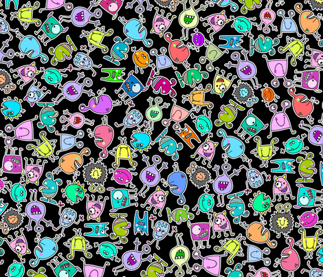 monsters fabric by musterartig on Spoonflower - custom fabric