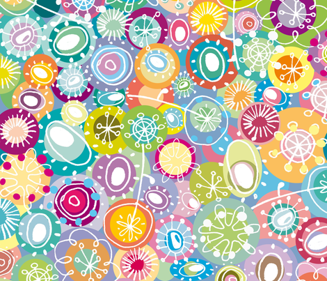 tipsy doodles fabric by musterartig on Spoonflower - custom fabric