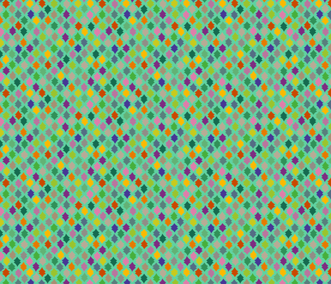 aqua spindles fabric by robinde on Spoonflower - custom fabric