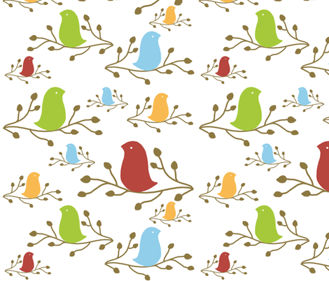 elegant  birds fabric by emilyb123 on Spoonflower - custom fabric