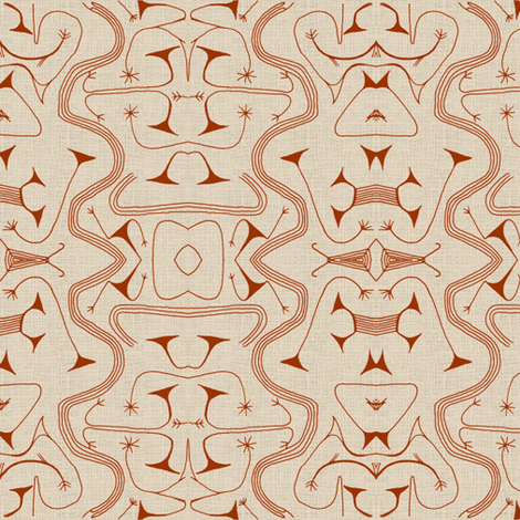 African Tribal-Brown-032 fabric by kkitwana on Spoonflower - custom fabric
