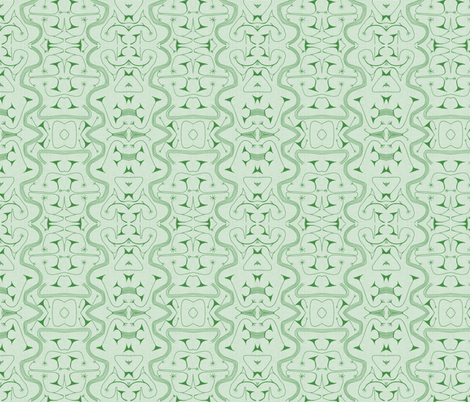 African Tribal Green-034 fabric by kkitwana on Spoonflower - custom fabric