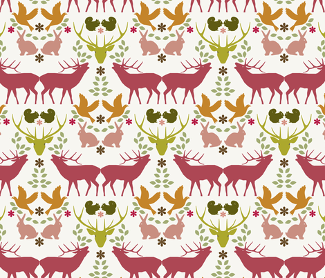 fauna fabric by troismiettes on Spoonflower - custom fabric