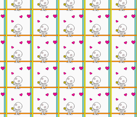 Amor de los Muertos fabric by ljonte on Spoonflower - custom fabric