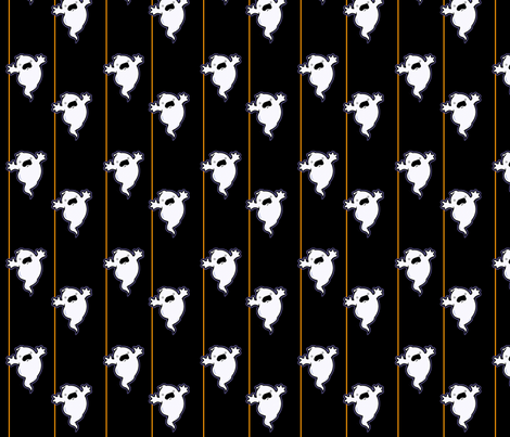 Boo in Black fabric by ljonte on Spoonflower - custom fabric