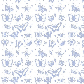 butterflies soft blue
