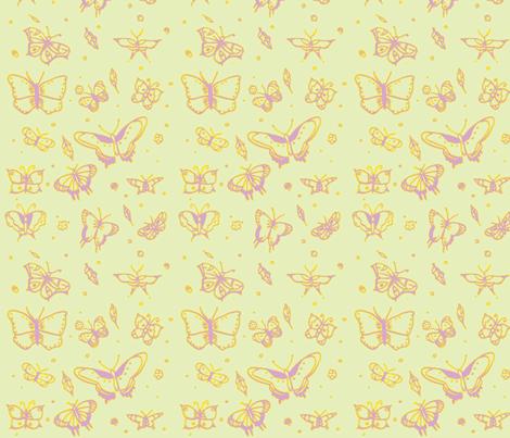 butterflies vintage fabric by sequingirlie on Spoonflower - custom fabric