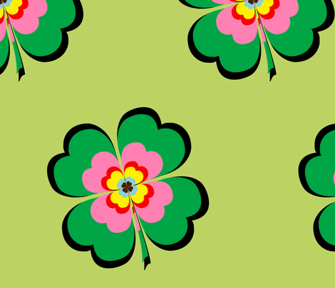 clovers fabric by snork on Spoonflower - custom fabric