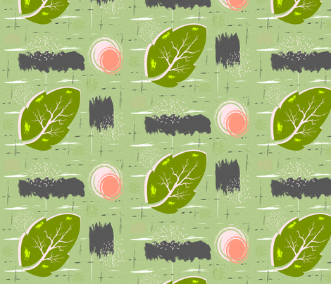 Green Leaf Bark fabric by boodillys on Spoonflower - custom fabric