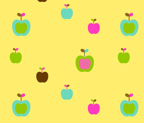 apples4 fabric by snork on Spoonflower - custom fabric