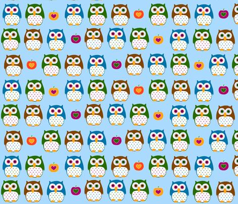 Autumn owls  fabric by katharinahirsch on Spoonflower - custom fabric