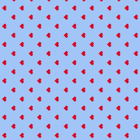 8-Bit Love fabric by leighr on Spoonflower - custom fabric
