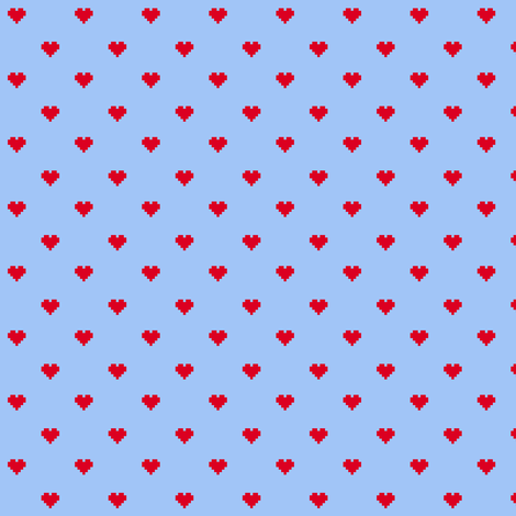 8-Bit Love (Rotate) fabric by leighr on Spoonflower - custom fabric