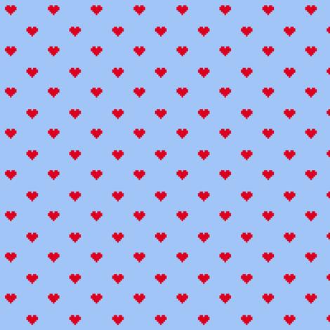8-Bit Love (Rotate) fabric by leighr on Spoonflower - custom fabric